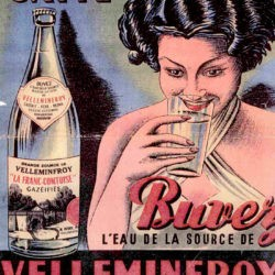 Affiche publicitaire Velleminfroy eau gazeuse