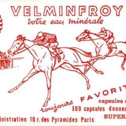 Ancienne publicite eau minerale Velleminfroy