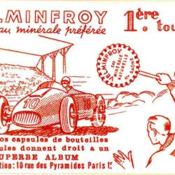 Ancienne publicité eau minérale Velleminfroy