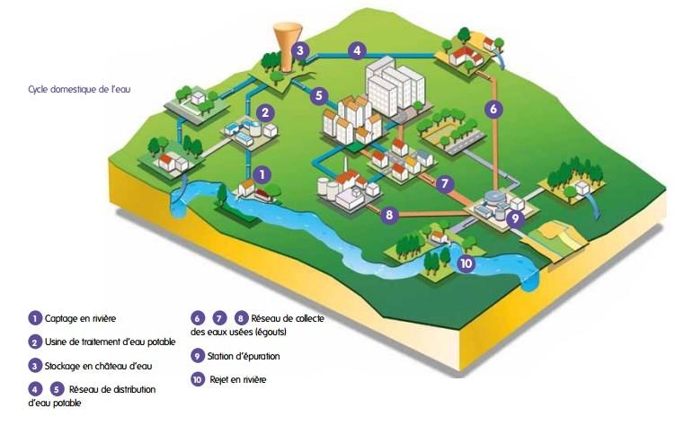 Le cycle domestique de l'eau