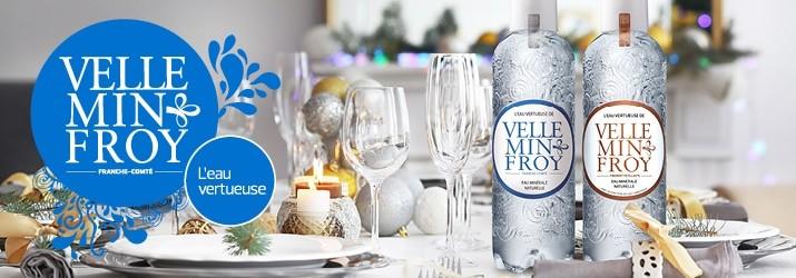 L'eau minérale de Velleminfroy alliée incontournable pour vos fêtes