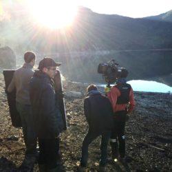 Équipe tournage publicité Velleminfroy lac