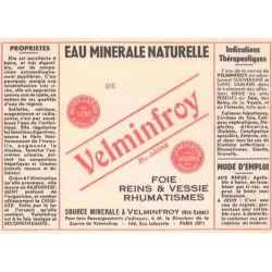 Ancienne étiquette bouteille Velleminfroy