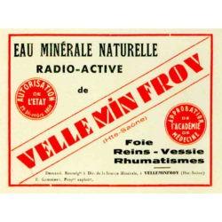 Ancienne étiquette eau minérale naturelle