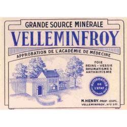 Étiquette bouteille Velleminfroy pavillon