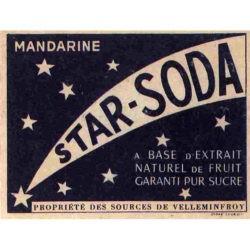 Étiquette star soda bouteille Velleminfroy