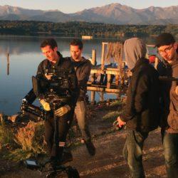 Installation équipement caméra de tournage