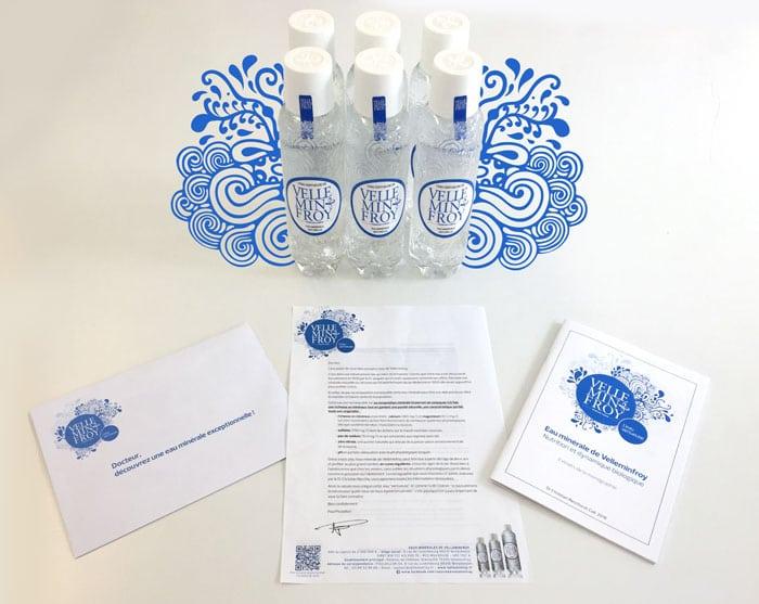 """Le pack """"Découverte"""" pour les médecins comprend 1 carton de 6 bouteilles de Velleminfroy et la monographie du Dr Christian Recchia"""