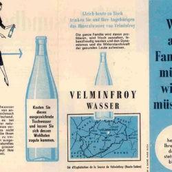 Ancien dépliant en allemand eau de Velleminfroy