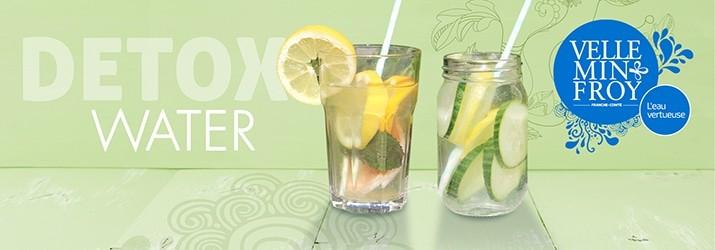 Recette detox water avec eau minérale de Velleminfroy