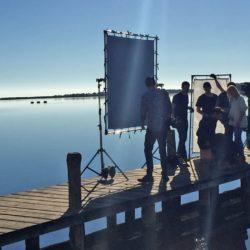 Photo du tournage su ponton