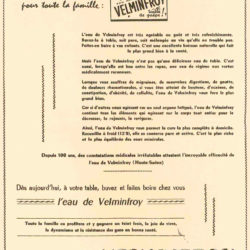 Ancien tract de l'au la plus riche en calcium Velleminfroy