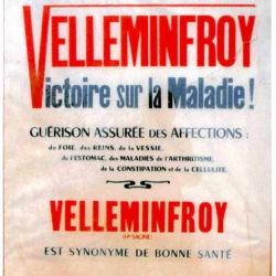 Ancien tract publicitaire Velleminfroy