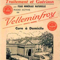 Ancienne affiche publicitaire Velleminfroy cure à domicile