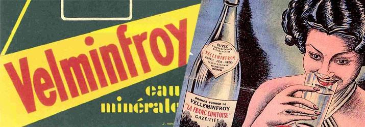 Ancienne affiche publicitaire Velleminfroy