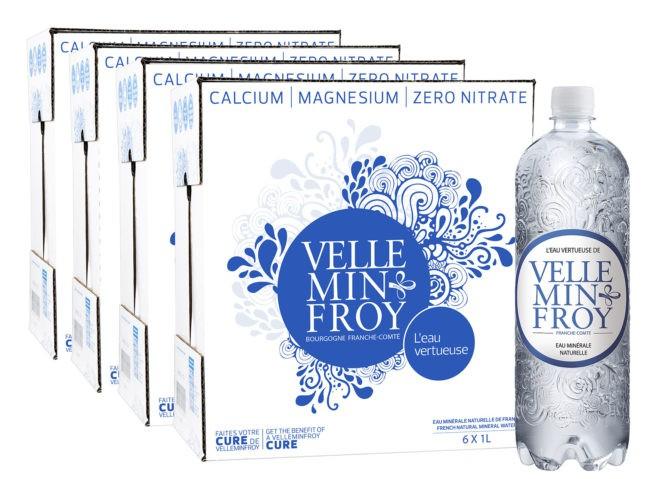 4 cartons 1L eau plate riche en magnésium