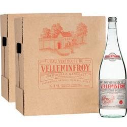 Vintage 2 - Eau Minérale Pétillante bouteilles en verre 2 cartons de 6 x 1 L