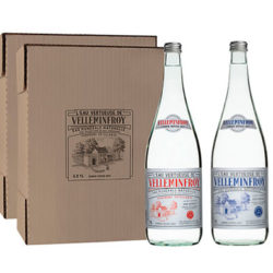 <span>Vintage 3</span> - Eau Minérale Plate et Pétillante bouteille en verre 1 carton de 6 x 1 L plate + 1 carton de 6 x 1 L pétillante