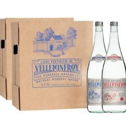 Vintage 3 - Eau Minérale Plate et Pétillante bouteille en verre 1 carton de 6 x 1 L plate + 1 carton de 6 x 1 L pétillante