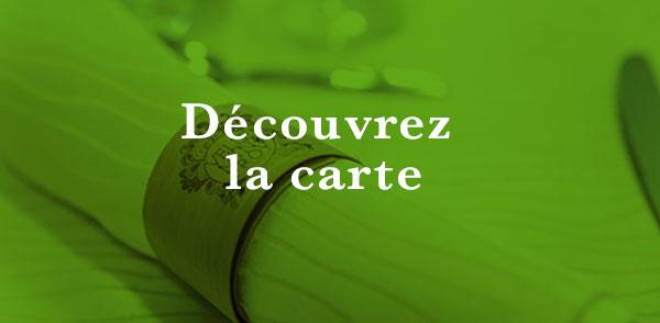 Découvrez la carte du restaurant Le paradis Vert