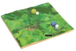 Plan d'accès à Velleminfroy : Espace Renaissance et Paradis Vert