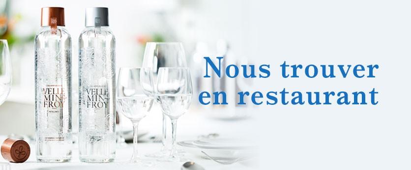 Restaurants qui servent l'eau minérale Velleminfroy