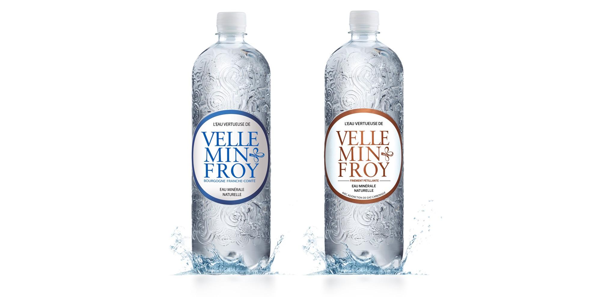 Bouteille PET eau riche en calcium de Velleminfroy
