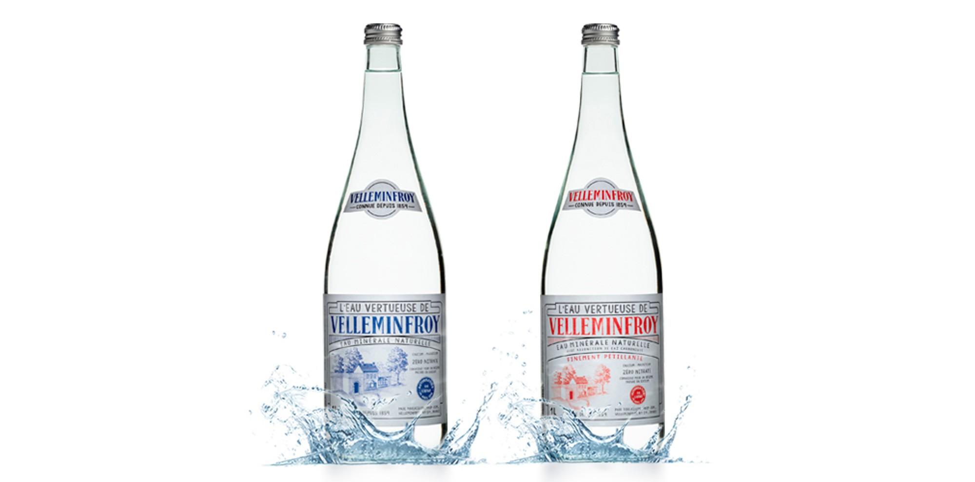Bouteilles mixtes gamme vintage eau Velleminfroy