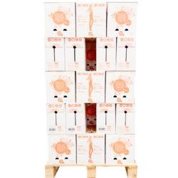 1/2 palette - Bouteille PET eau pétillante 50 cartons de 6 x 1 litre