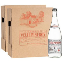 Edition limitée - Eau Minérale Pétillante bouteilles en verre J-M Turin 2 cartons de 6 x 1 L